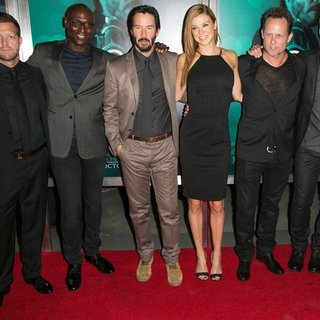 David Leitch, Lance Reddick, Keanu Reeves, Adrianne Palicki, Dean Winters, Chad Stahelski in Los Angeles Special Screening of John Wick