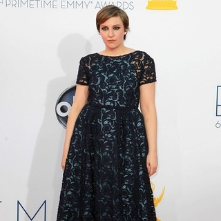 Lena Dunham in 64th Annual Primetime Emmy Awards - Arrivals