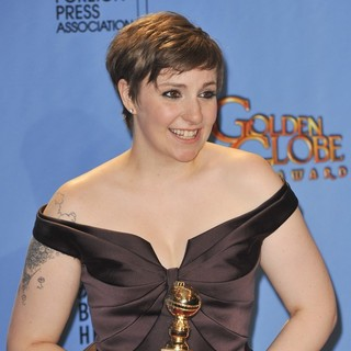 Lena Dunham in 70th Annual Golden Globe Awards - Press Room