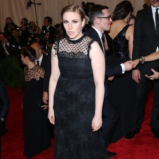Lena Dunham in PUNK: Chaos to Couture Costume Institute Gala