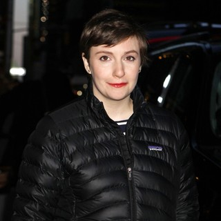 Lena Dunham in Celebrities for The Late Show with David Letterman