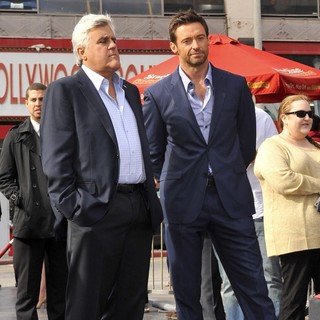 Jay Leno, Hugh Jackman in Hugh Jackman Is Honoured with A Hollywood Star on The Hollywood Walk of Fame