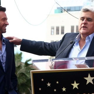 Hugh Jackman, Jay Leno in Hugh Jackman Is Honoured with A Hollywood Star on The Hollywood Walk of Fame