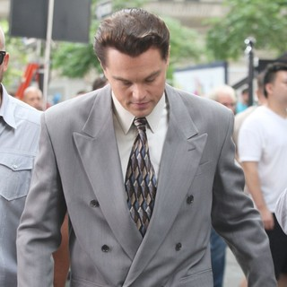 Leonardo DiCaprio in Filming Scenes for The Wolf of Wall Street