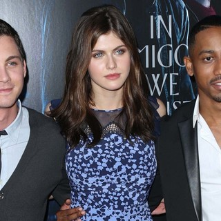 Logan Lerman, Alexandra Daddario, Brandon T. Jackson in Percy Jackson: Sea of Monsters Premiere