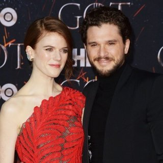 Rose Leslie, Kit Harington in Game of Thrones Season 8 Premiere - Red Carpet Arrivals