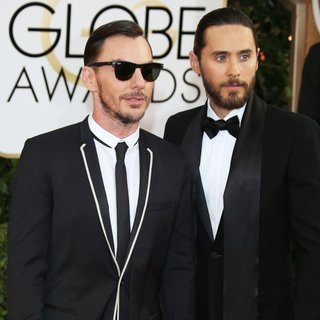 Shannon Leto, Jared Leto, 30 Seconds to Mars in 71st Annual Golden Globe Awards - Arrivals
