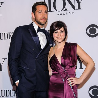 Zachary Levi, Laura Benanti in The 67th Annual Tony Awards - Arrivals