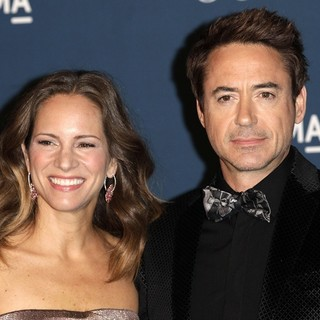 Susan Levin, Robert Downey Jr. in LACMA 2013 Art and Film Gala Honoring Martin Scorsese and David Hockney Presented by Gucci