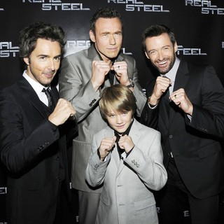 Shawn Levy, Kevin Durand, Dakota Goyo, Hugh Jackman in Canadian Premiere of Real Steel