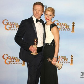 Damian Lewis, Claire Danes in The 69th Annual Golden Globe Awards - Press Room