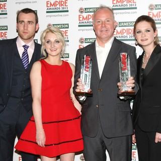 Matthew Lewis, Evanna Lynch, David Yates, Bonnie Wright in The Empire Film Awards 2012 - Press Room