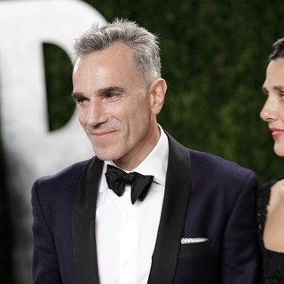 Daniel Day-Lewis, Rebecca Miller in 2013 Vanity Fair Oscar Party - Arrivals