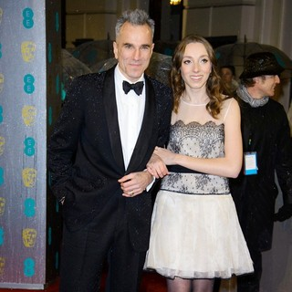 Daniel Day-Lewis, Charissa Shearer in The 2013 EE British Academy Film Awards - Arrivals