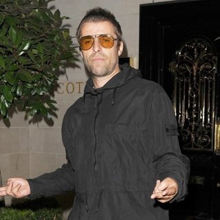 Liam Gallagher Leaving Scott's Seafood Restaurant