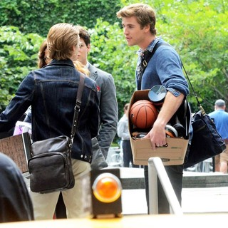 Liam Hemsworth in The Set of Film Paranoia