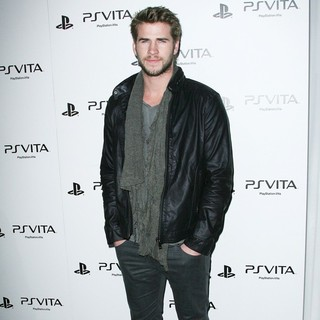 Liam Hemsworth in Sony Playstation PS Vita Portable Entertainment System Launch Party