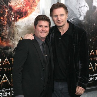 Jonathan Liebesman, Liam Neeson in The World Premiere of Wrath of The Titans