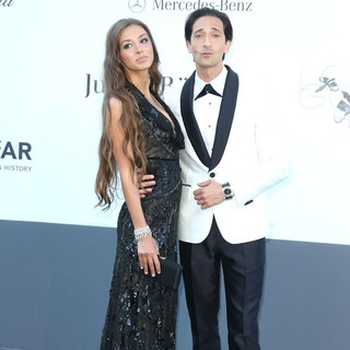 Lara Lieto, Adrien Brody in 66th Cannes Film Festival - amfAR's 20th Annual Cinema Against AIDS - Arrivals