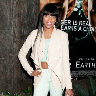 Lil Mama in New York Premiere of After Earth