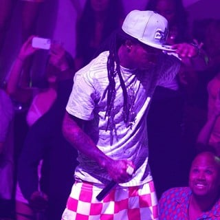 Lil Wayne in Nicki Minaj Hosts Pink Friday: Roman Reloaded Album Release Party