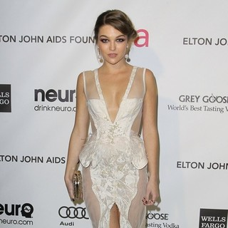 Lili Simmons in 21st Annual Elton John AIDS Foundation's Oscar Viewing Party