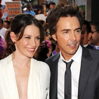 Evangeline Lilly, Shawn Levy in Los Angeles Premiere of Real Steel