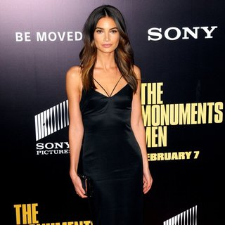 Lily Aldridge in New York Premiere of The Monuments Men - Inside Arrivals