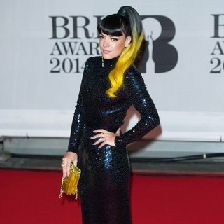 Lily Allen - The Brit Awards 2014 - Arrivals