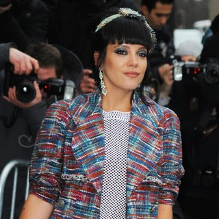 Lily Allen - Paris Fashion Week Haute Couture Spring-Summer 2014 - Chanel - Outside Arrivals