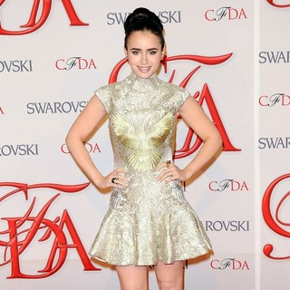 Lily Collins in 2012 CFDA Fashion Awards