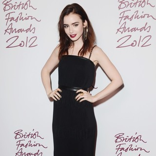 Lily Collins in The British Fashion Awards 2012 - Arrivals