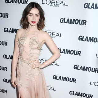 Lily Collins in Glamour Magazine's 23rd Annual Women of The Year Gala - Arrivals