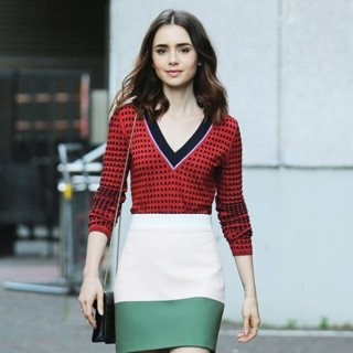 Lily Collins Outside ITV Studios