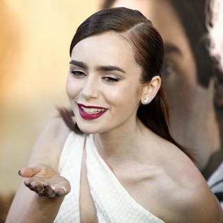 Lily Collins in Premiere of Screen Gems and Constantin Films' The Mortal Instruments: City of Bones - lily-collins-premiere-the-mortal-instruments-city-of-bones-11