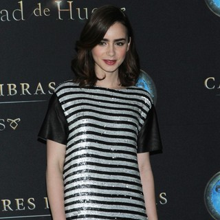 Lily Collins in The Mortal Instruments: City of Bones Mexico City Photocall