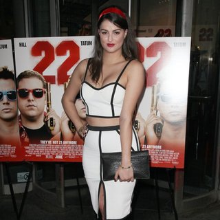 Lily Lane in New York Premiere of 22 Jump Street