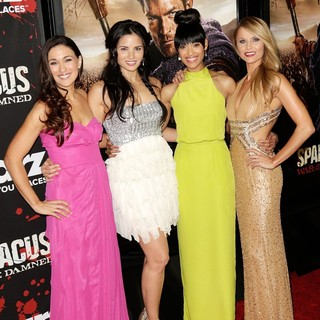 Jenna Lind, Katrina Law, Cynthia Addai-Robinson, Ellen Hollman in U.S. Premiere Screening of Spartacus: War of the Damned
