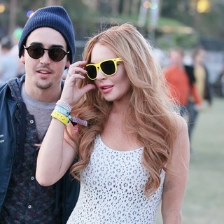 Lindsay Lohan in Celebrities at The 2012 Coachella Valley Music and Arts Festival - Day 3