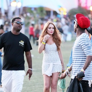 Lindsay Lohan - Celebrities at The 2012 Coachella Valley Music and Arts Festival - Day 3