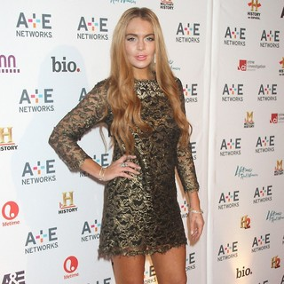Lindsay Lohan in A and E Networks 2012 Upfront