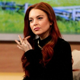 Lindsay Lohan in Lindsay Lohan Appearance on Good Morning America to Promote Her Movie  Liz and Dick