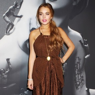 Lindsay Lohan in Lady GaGa Fame Fragrance Launch