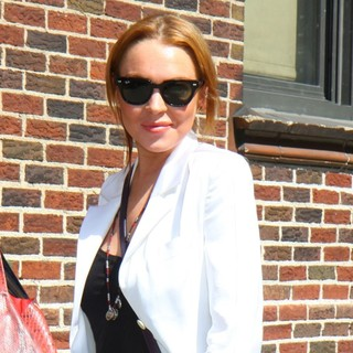 Lindsay Lohan - Celebrities at The Ed Sullivan Theater for The Late Show with David Letterman