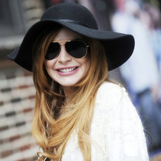 Lindsay Lohan in Celebrities for The Late Show with David Letterman