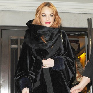 Lindsay Lohan in Lindsay Lohan Leaves China Tang Following A Night Out
