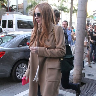 Lindsay Lohan in Lindsay Lohan Leaves Miu Miu in Beverly Hills