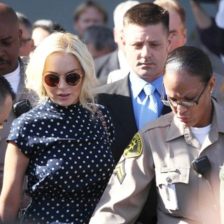 Lindsay Lohan in Lindsay Lohan Is Seen Leaving The Los Angeles County Superior Court Airport Courthouse
