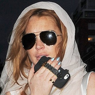 Lindsay Lohan in Lindsay Lohan Out and About in London