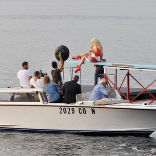 Lindsay Lohan - Lindsay Lohan Takes Part in A Photoshoot for German Brand Philipp Plein on Lake Como
